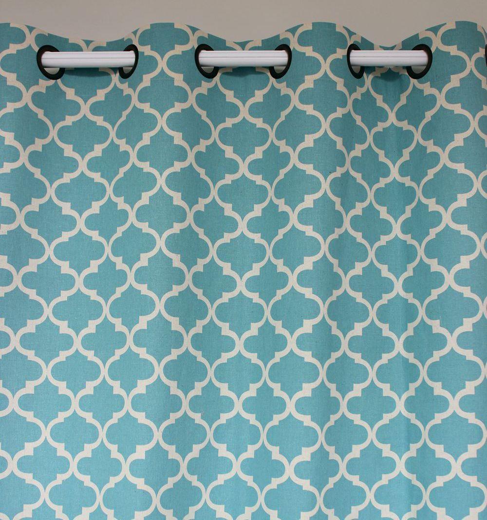 Comprar nueva luz de la llegada geometr a for Cortinas azules baratas