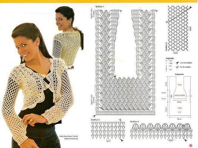 boleros-crochet (8) | boleros | Pinterest