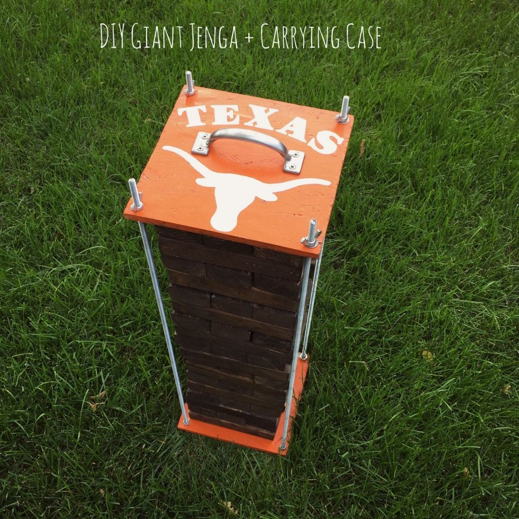 Texas Longhorns Giant Jenga And Carrying Case Instructions