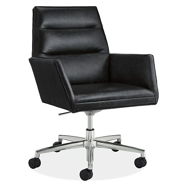 Room Board Tenley Leather Office Chair Modern Office Chairs Task Chairs Modern Office Furniture Office Furniture Modern Modern Office Chair Leather Office Chair