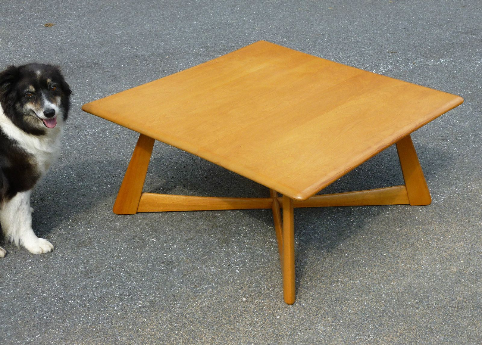 Rare heywood wakefield square coffee cocktail table m392g original rare heywood wakefield square coffee cocktail table m392g original wheat ebay geotapseo Image collections