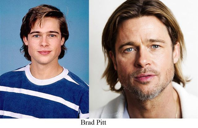 Famous People Then And Now Celebrity Yearbook Photos Celebrities Then And Now Childhood Photos