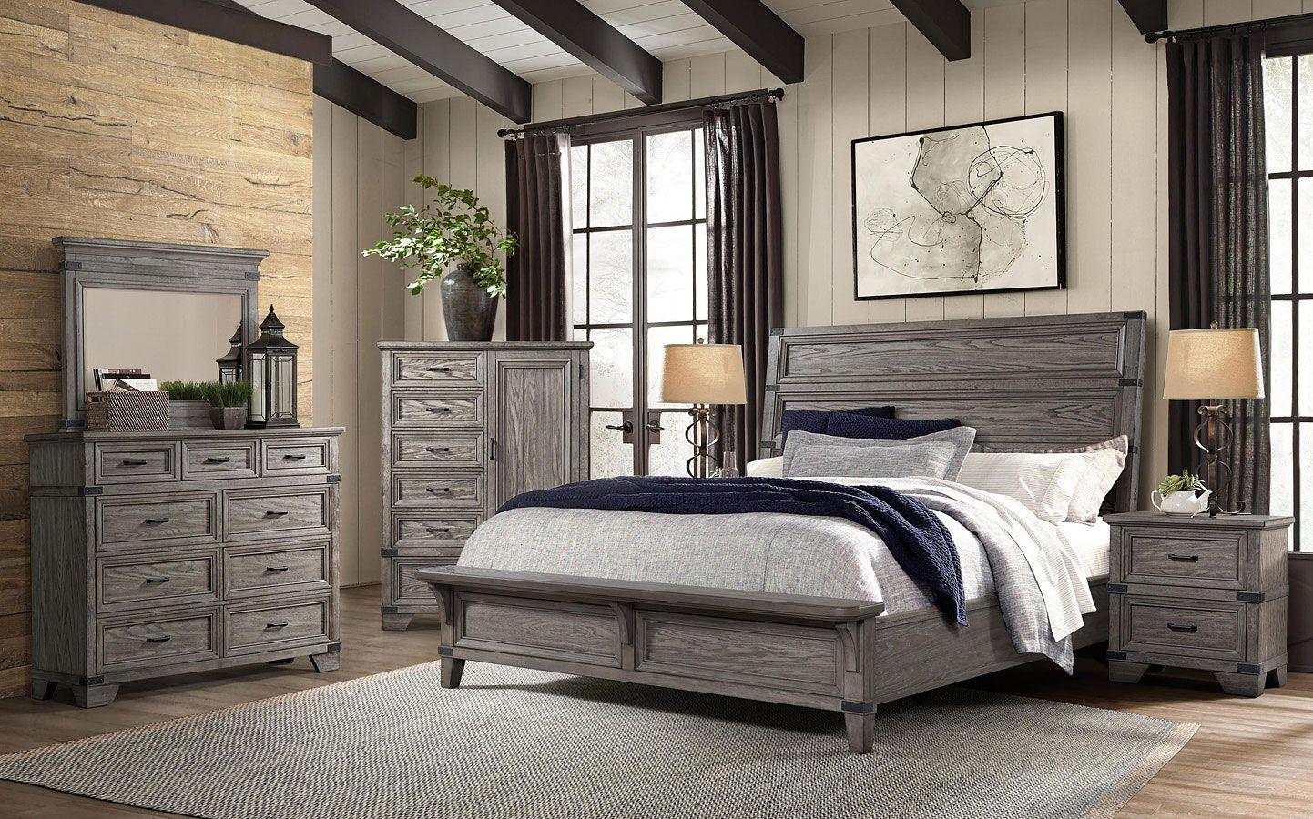 Forge Panel Bedroom Set W Bench Bedroom Sets Queen King Bedroom Sets Furniture