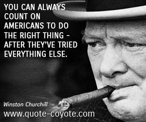 Winston Churchill Quotes About America. QuotesGram