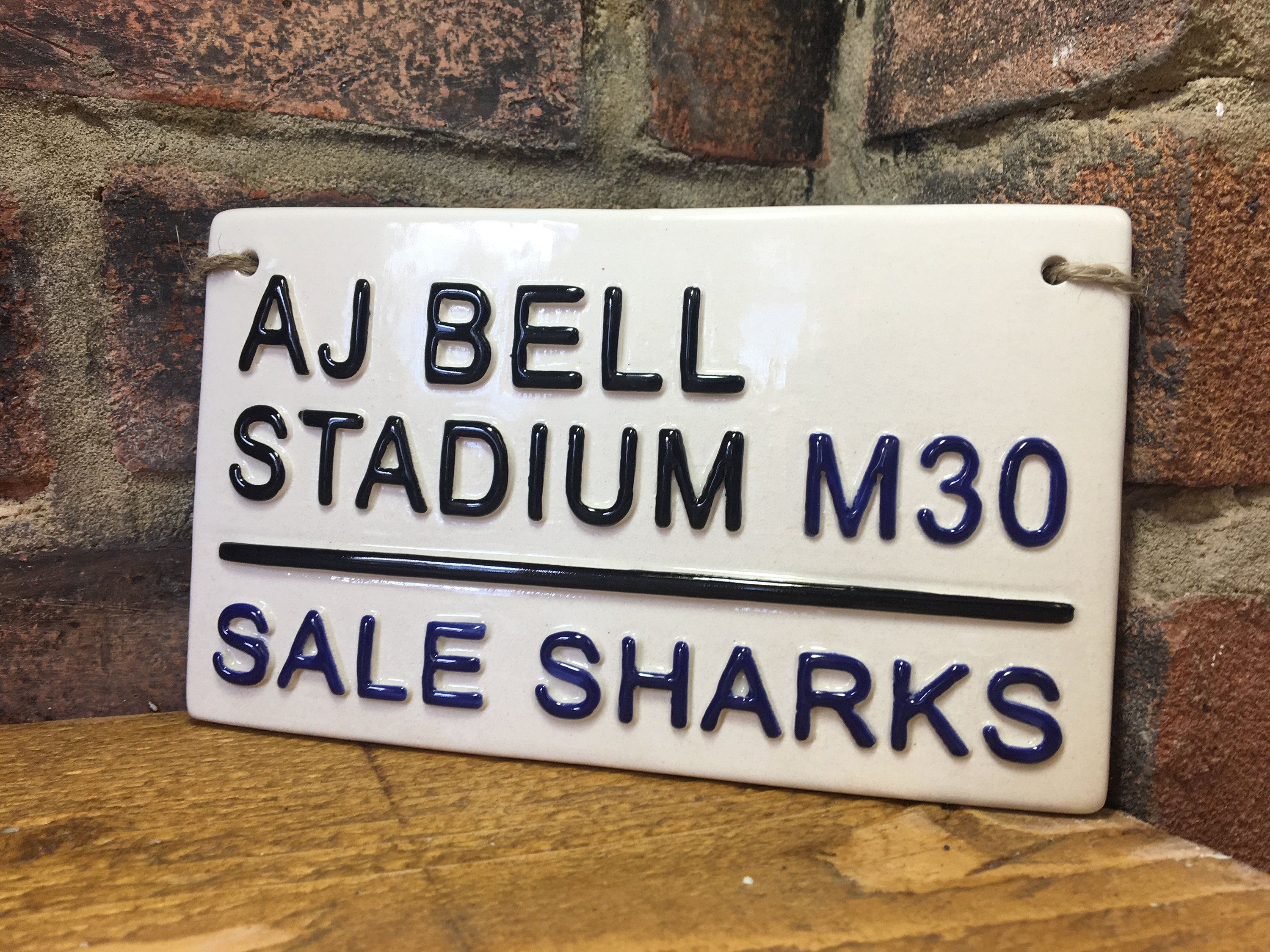 Sharks Aj Bell Stadium Rugby Street Sign Rugby Gift Rugby Union Sports Plaque Fathers Day Gift England Rugby Present Gifts For Him Rugby Gifts Sports Plaque Rugby Union