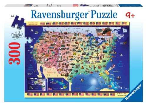 Ravensburger Usa Map 300 Pieces Puzzle Ravensburger httpwww