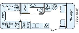 1997 Airstream Excella 25 Wb For Sale T135nb Ppl Motor Homes Airstream Interior Interior Floor Plan Airstream