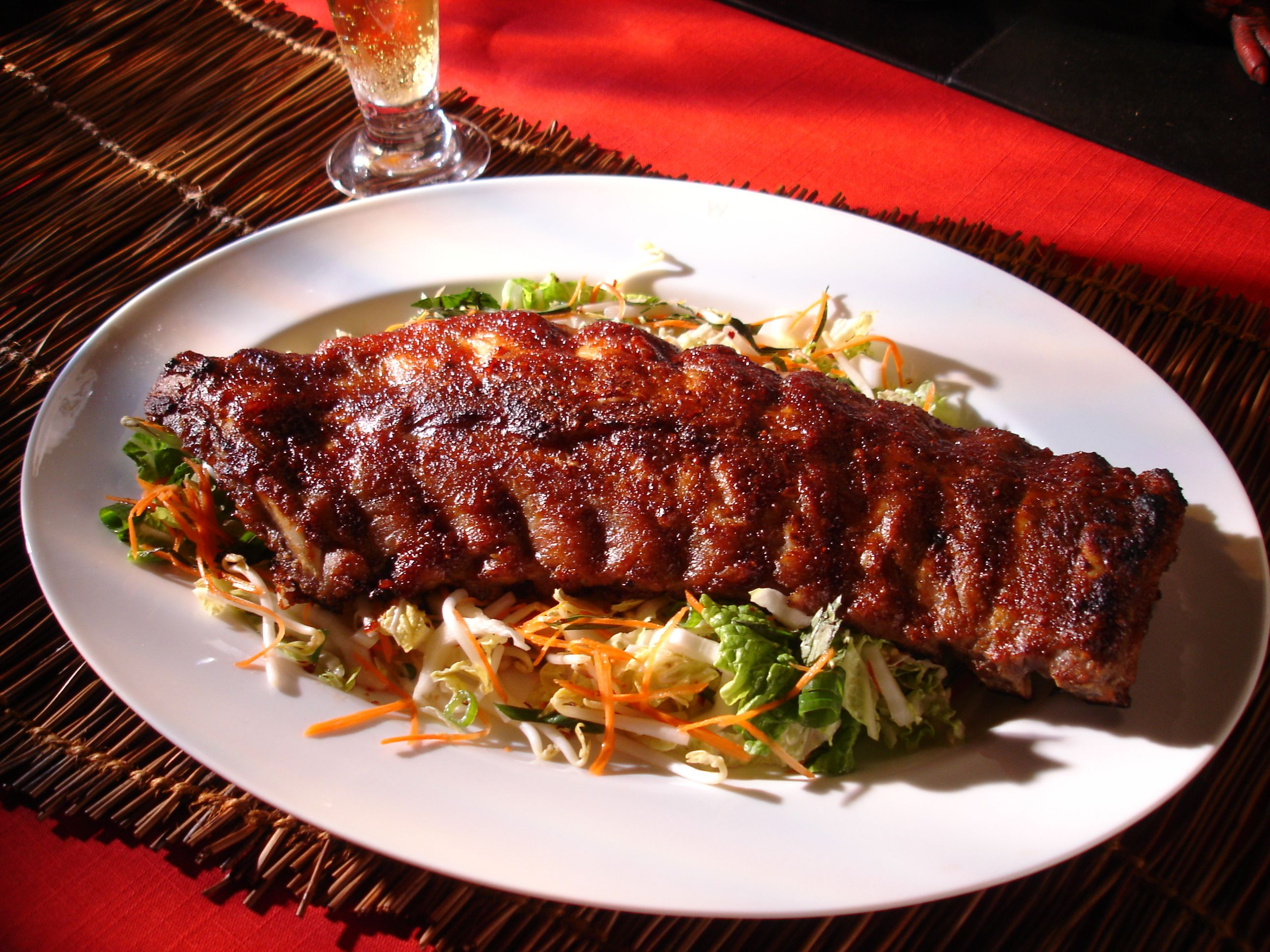 Oven Roasted Pork Ribs With Hoisin Cranberry Bbq Sauce And Asian Coleslaw Simply Ming Best Of