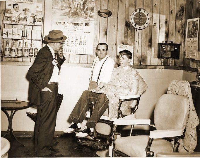 old shoe shop 1950 1950 39 s barber shop old time barber young boy love the saddle shoes. Black Bedroom Furniture Sets. Home Design Ideas