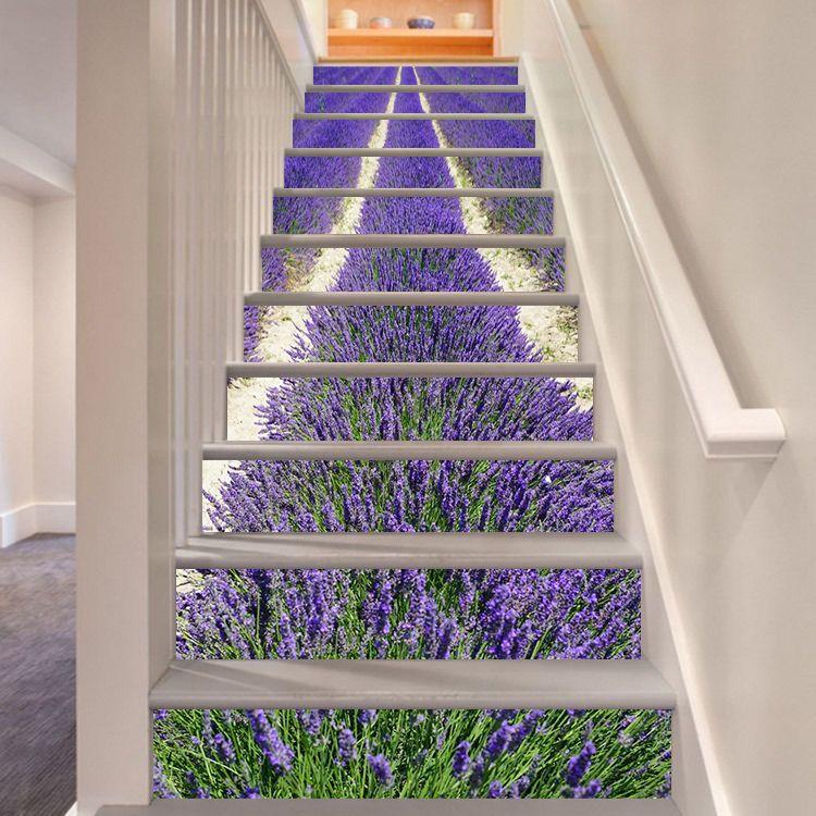 3d Lavender 377 Stair Risers Decoration Photo Mural Vinyl