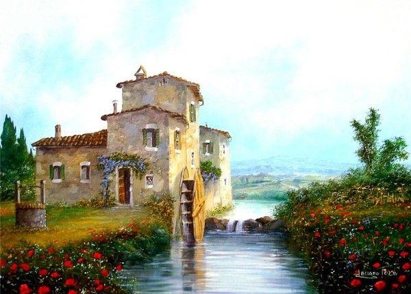 Paysages En Peintures Peinture Paysage Paysage Peinture