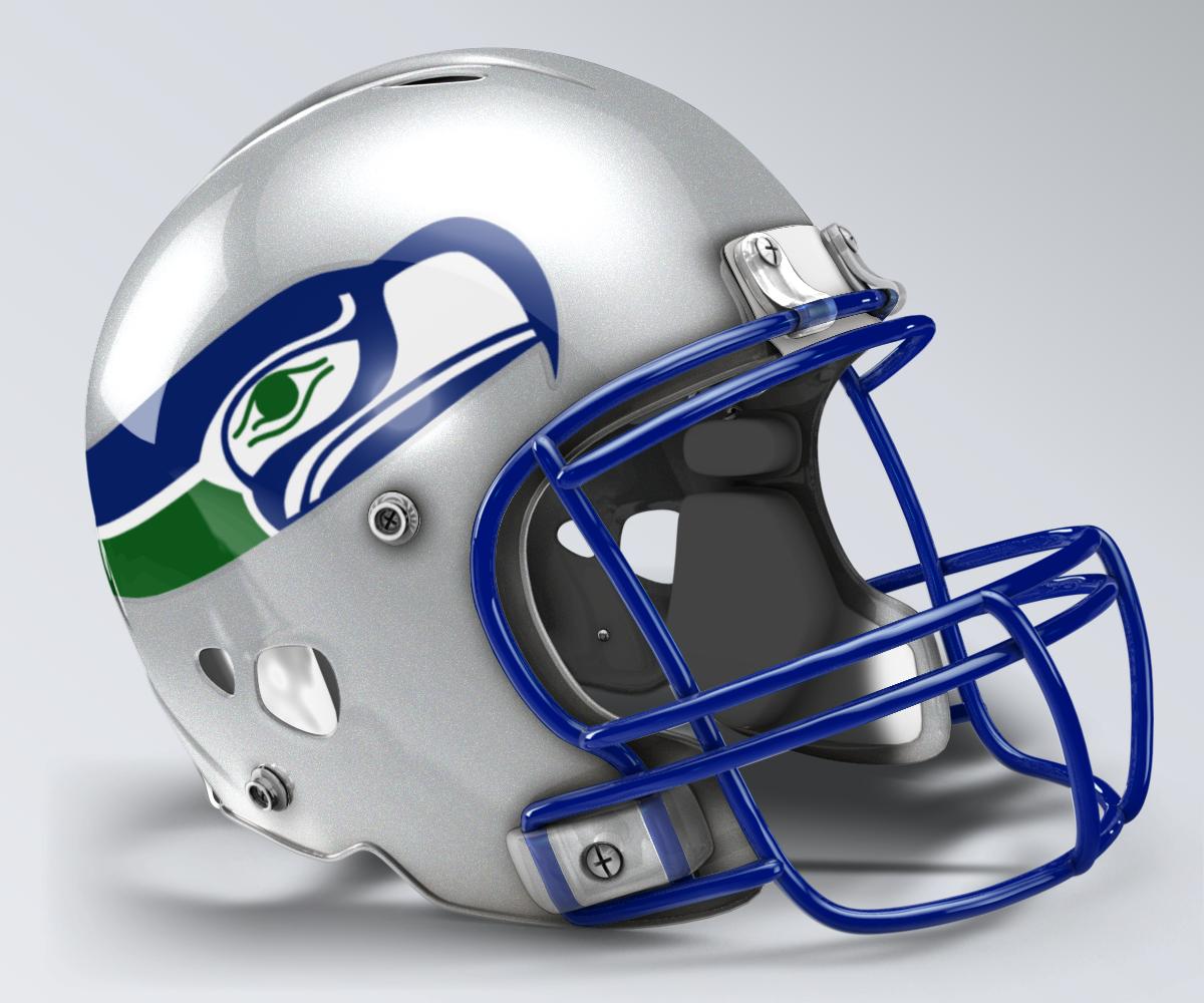 online store fee84 31675 Seattle Seahawks Throwback Helmet | 1980s Era NFL Helmets ...