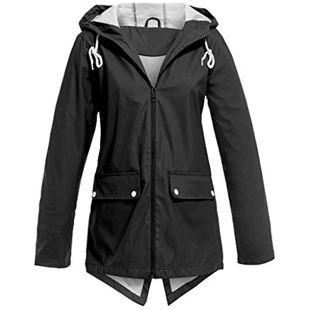 LoveLeiter Damen Outdoorjacken Wasserdichter Regenjacke