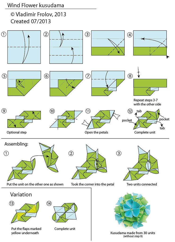 Phenomenal Wind Flower Kusudama Diagram Kreativ Origami Origami Diagrams Wiring Digital Resources Dadeaprontobusorg