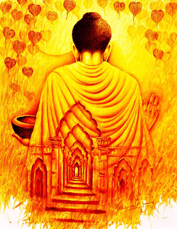 1757 2284 buddha for Buddha mural paintings