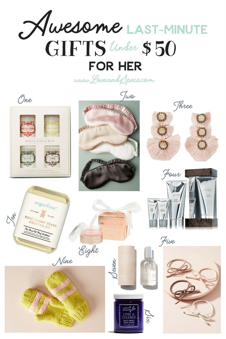 Dec 19 Awesome Last-Minute Gifts Under $50 for Her | Gifts ...