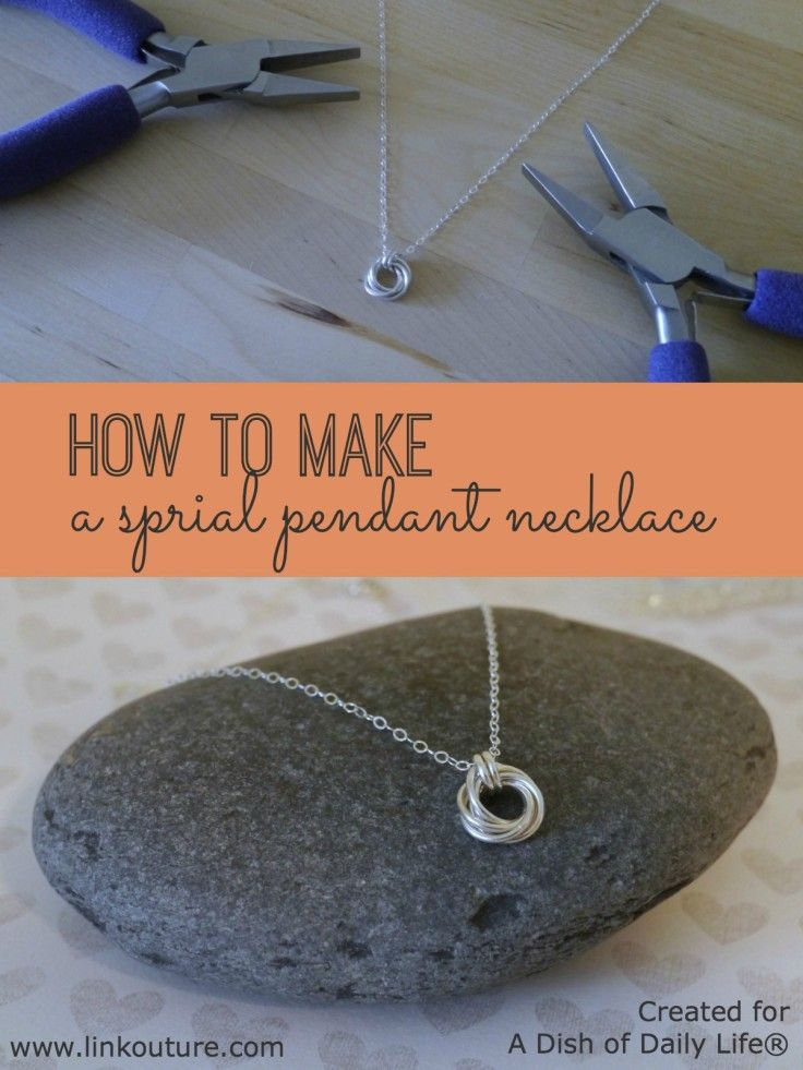 Learn to make your own jewelry with this simple tutorial spiral this diy spiral pendant necklace jewelry tutorial is incredibly easy to make it makes for a wonderful gift idea for mothers day or a special treat for mozeypictures Images