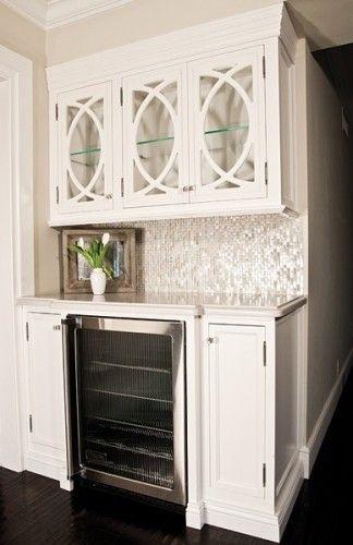 Fantastic Drink Station Wet Bar Idea Love The Glass Door Cabinets
