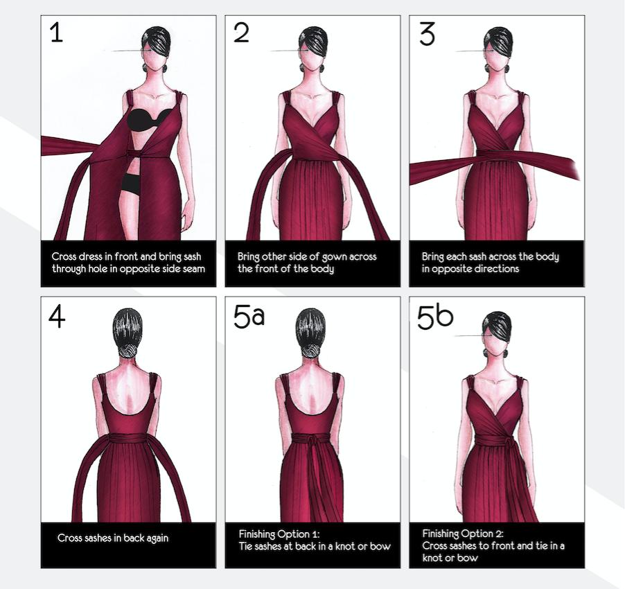 Sorella Vita Designer Series The Wrap Dress Rokke