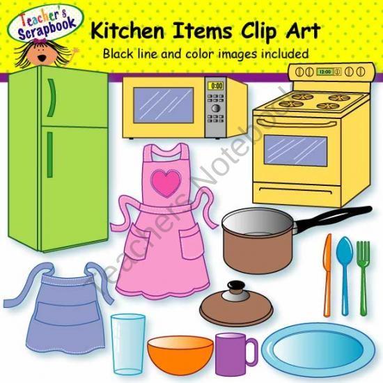 Kitchen Items Clip Art Clip Art Teaching Clipart Kids Clipart