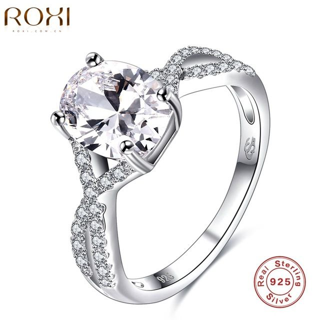 Check it on our site ROXI Brand 925 Sterling-silver-jewelry Ring Wholesale Silver Charm For Women Wedding Rings Square Zircon Luxury  Gift just only $7.57 with free shipping worldwide  #weddingengagementjewelry Plese click on picture to see our special price for you