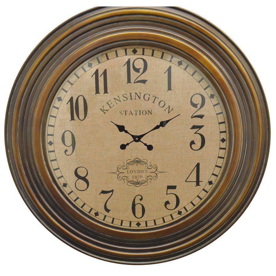 Oversized Kensington Station Face Wood 40 Wall Clock Traditional Wall Clocks Wall Clock Brown Wall Clocks