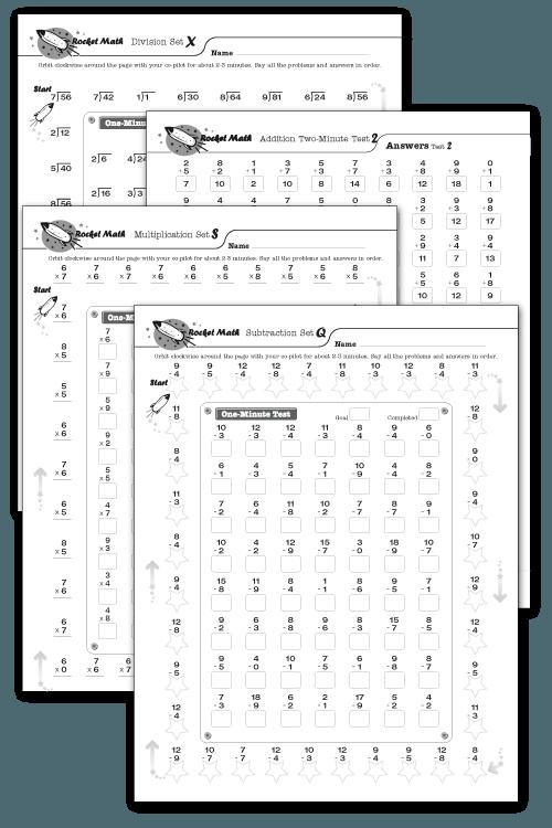Rocket Math Rocket Math Math Fact Fluency Math Subtraction