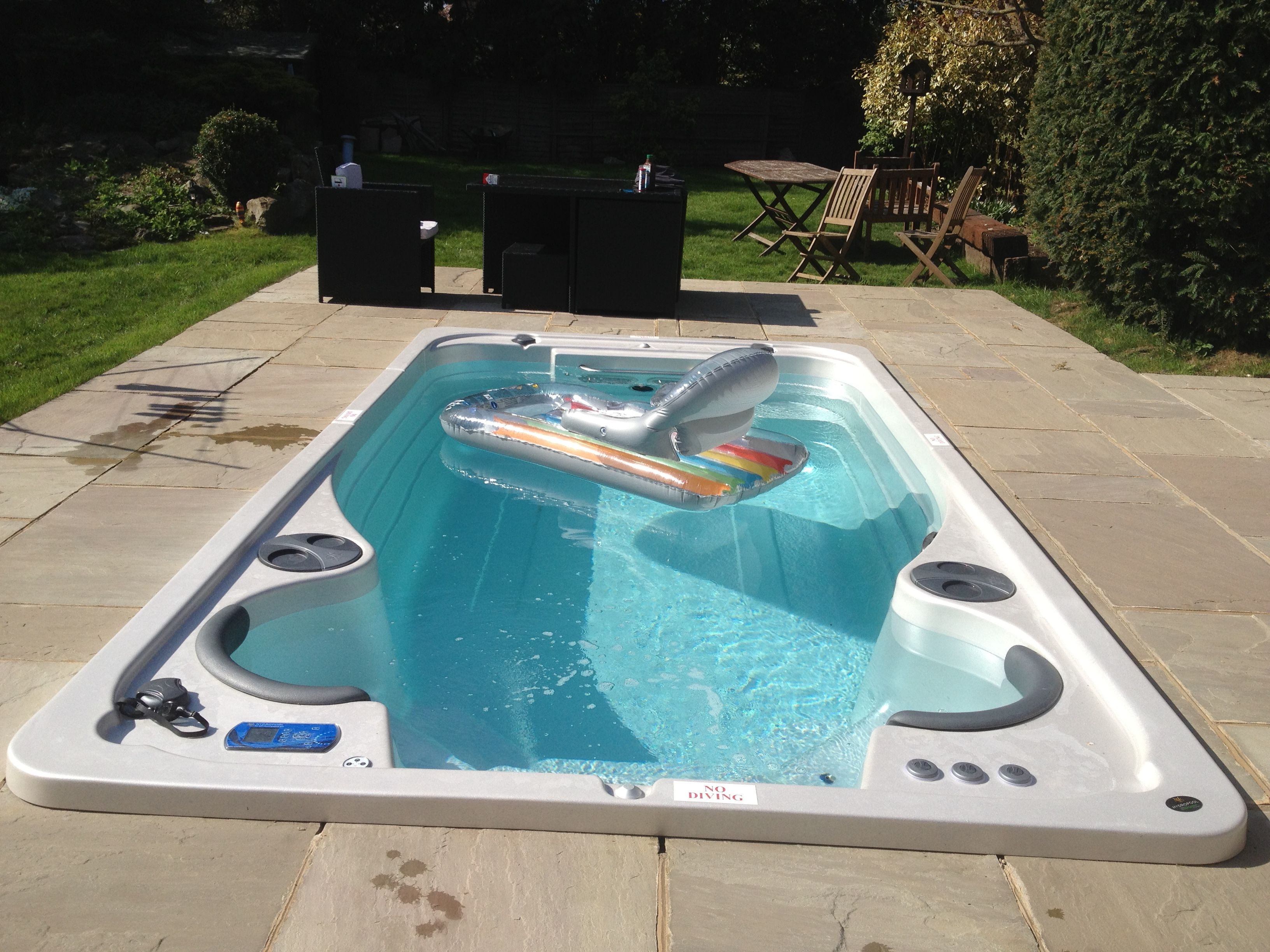 Hydropool Self Cleaning Swim Spa The Swim In Place Pool That Is Fun For All The Family Swim Spa Swim Spa Landscaping Indoor Swim Spa