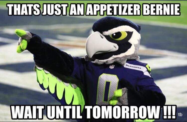 Feelthebird Birdiesanders Nfl Draft Bernie Sanders For President Seahawks