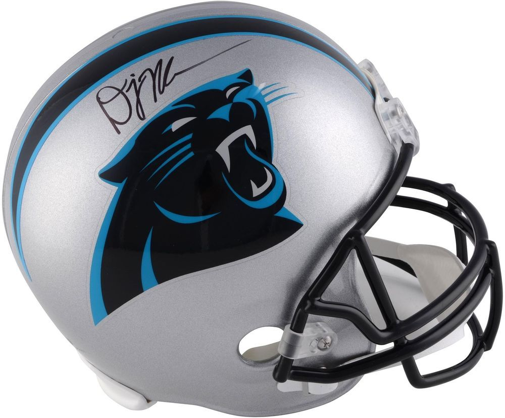 los angeles e0cab 8b445 D.J. Moore Carolina Panthers Autographed Riddell Replica ...