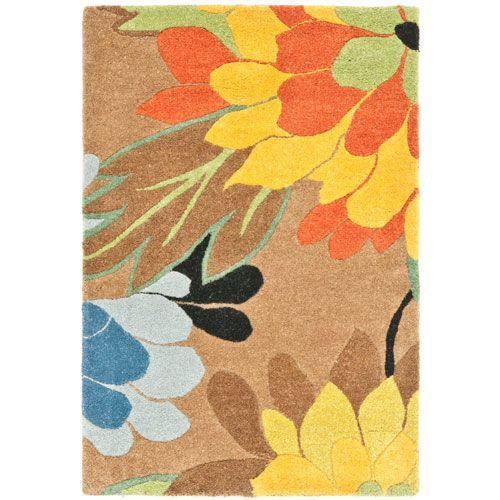 Soho Brown and Multi Rectangular: 2 Ft. In. x 3 Ft. In. Accent Rug - (In Rectangular)