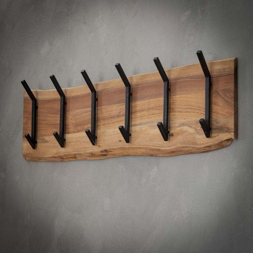 Wandgarderobe Holz Metall Garderobe Holz Breite 100 Cm In 2020
