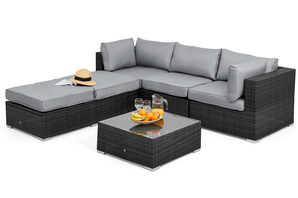 Rattan Garden Furniture Rio Grey Corner Group In 2020 Terrace Furniture Rattan Furniture Set Rattan Garden Furniture