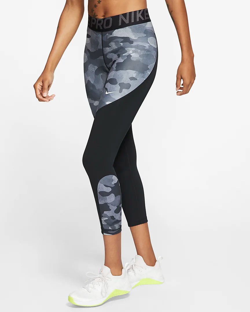 Nike Pro Icon Clash Women's 7/8 Camo Tights.