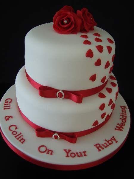 ruby anniversary cakes ruby wedding anniversary cake cakes