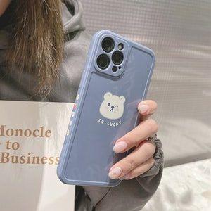 Peach Bear Glitter Korean iPhone Case for iPhone 11 12 Pro, iPhone X XR XS MAX   Pretty   Cute   Kawaii Animal Phone Case