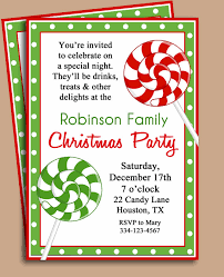 holiday party invitations samples