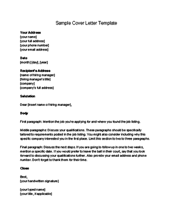 Cover Letter Template Wikihow Cover Coverlettertemplate Letter Template Wikihow Writing A Cover Letter Cover Letter Business Letter Example