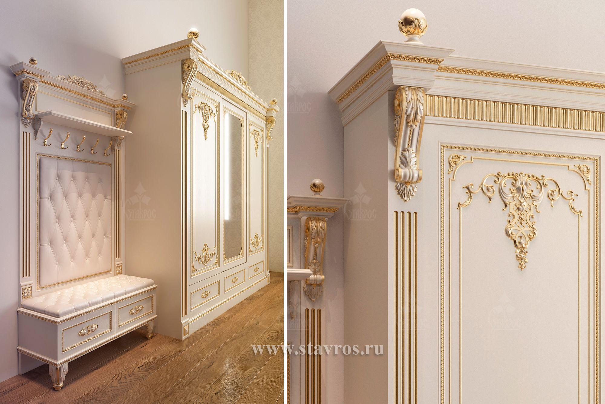 Качественная мебель из массива, украшенная резным декором - это