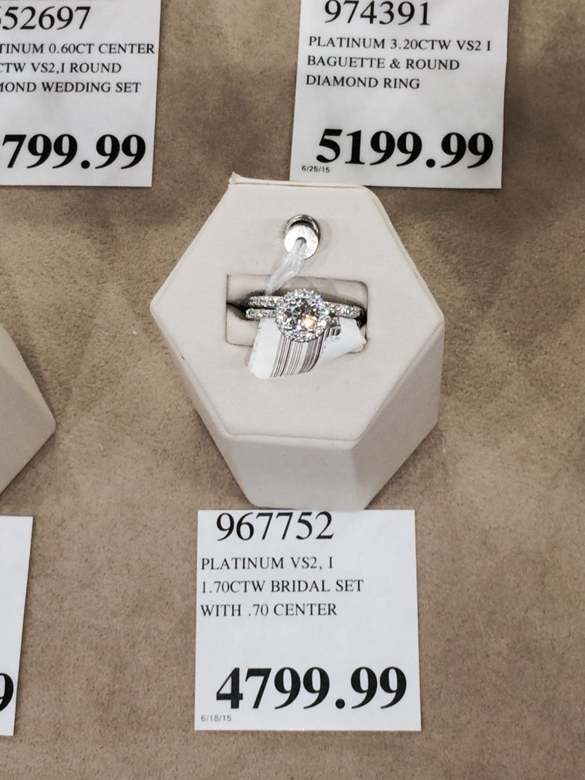 Costco diamond ring and wedding band Sparkle Pinterest