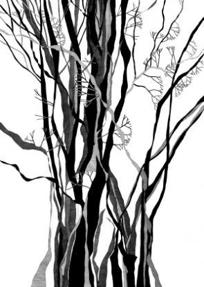 Tree is an abstract pen and ink drawing by fred kennett the tree is a pen ink drawing that captures a simple and almost iconic study which when studies