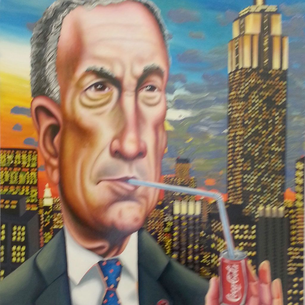 bloomberg. protecting nyc from soft drinks! #art #becreative #edm