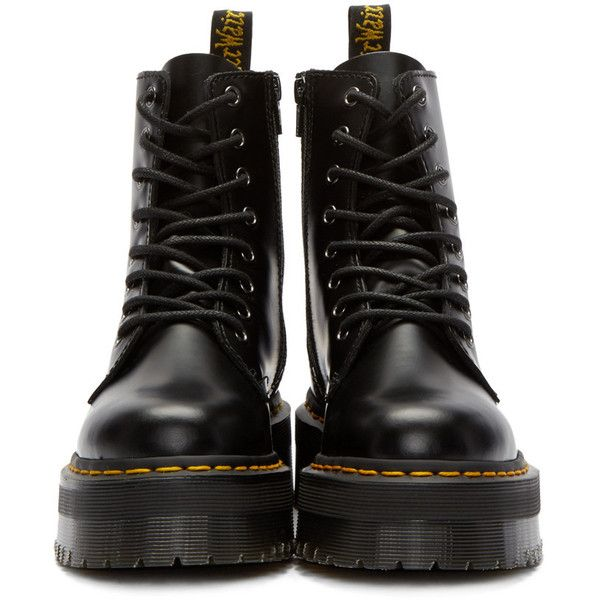 0098abe2111 Dr. Martens Black Eight-Eye Jadon Boots ( 175) ❤ liked on Polyvore  featuring shoes