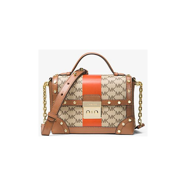 feda9aad7c2f3 MICHAEL Michael Kors Cori Small Heritage Signature Trunk Bag ( 284) ❤ liked  on Polyvore featuring bags