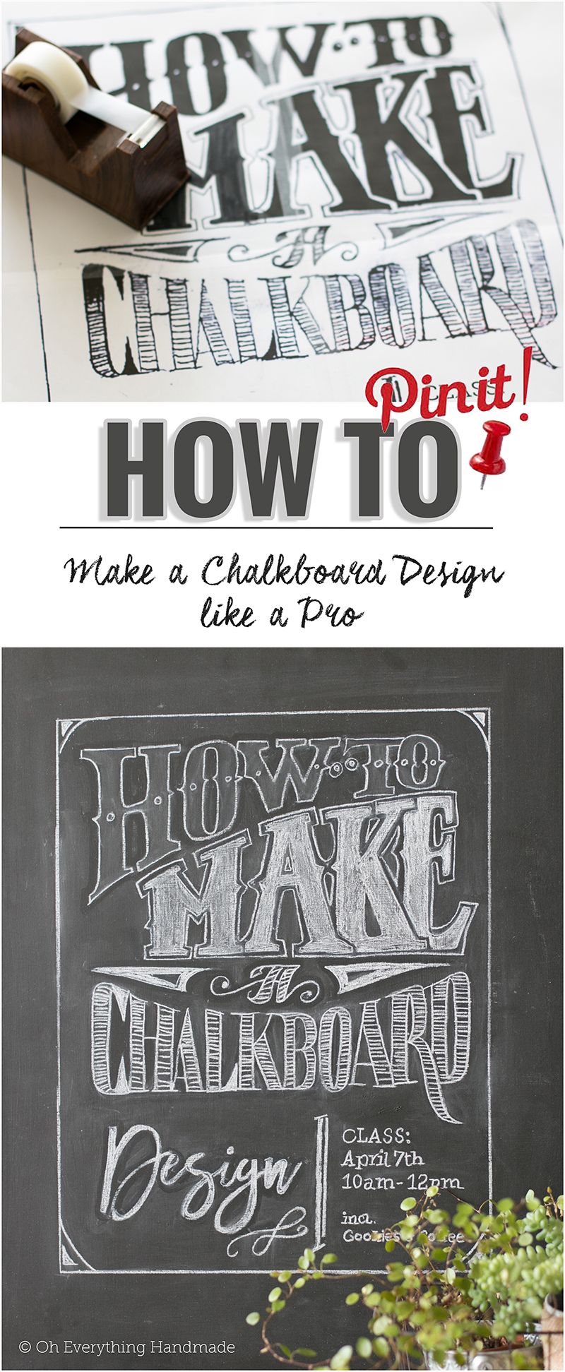 Hi There, I Canu0027t Wait To Share How To Make A Chalkboard Design