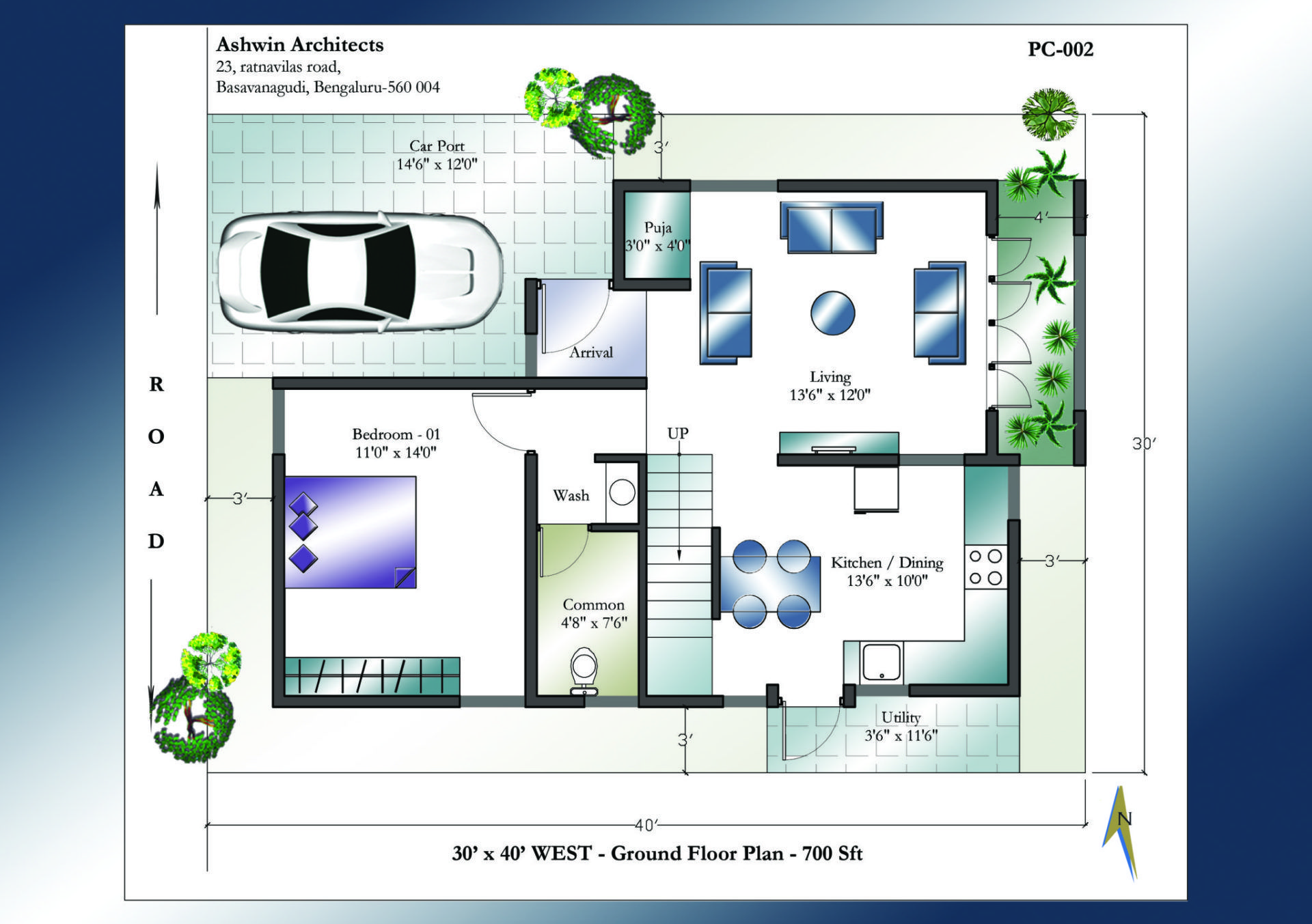 30 X 40 West Facing House Plans Ground Floor West Facing House Indian House Plans 30x40 House Plans