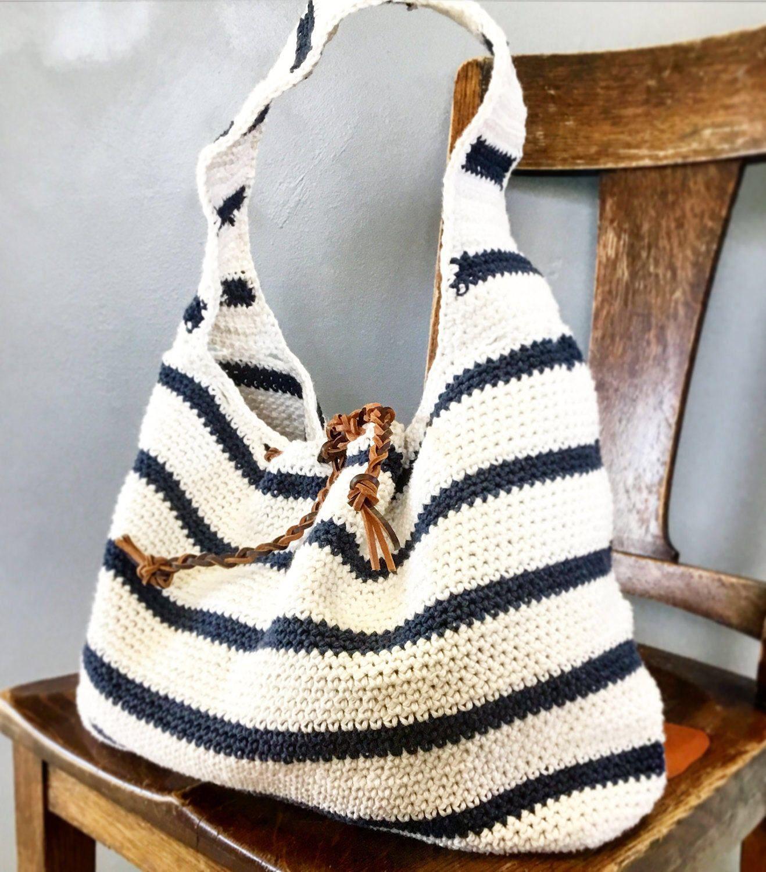 CROCHET PATTERN, The Cameron Slouchy Bag , Crochet Pattern, Easy Bag ...