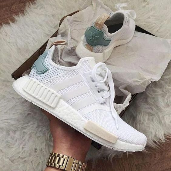 Wmns NMD_R1 'Tactile Green' | Adidas white shoes, Addidas shoes ...