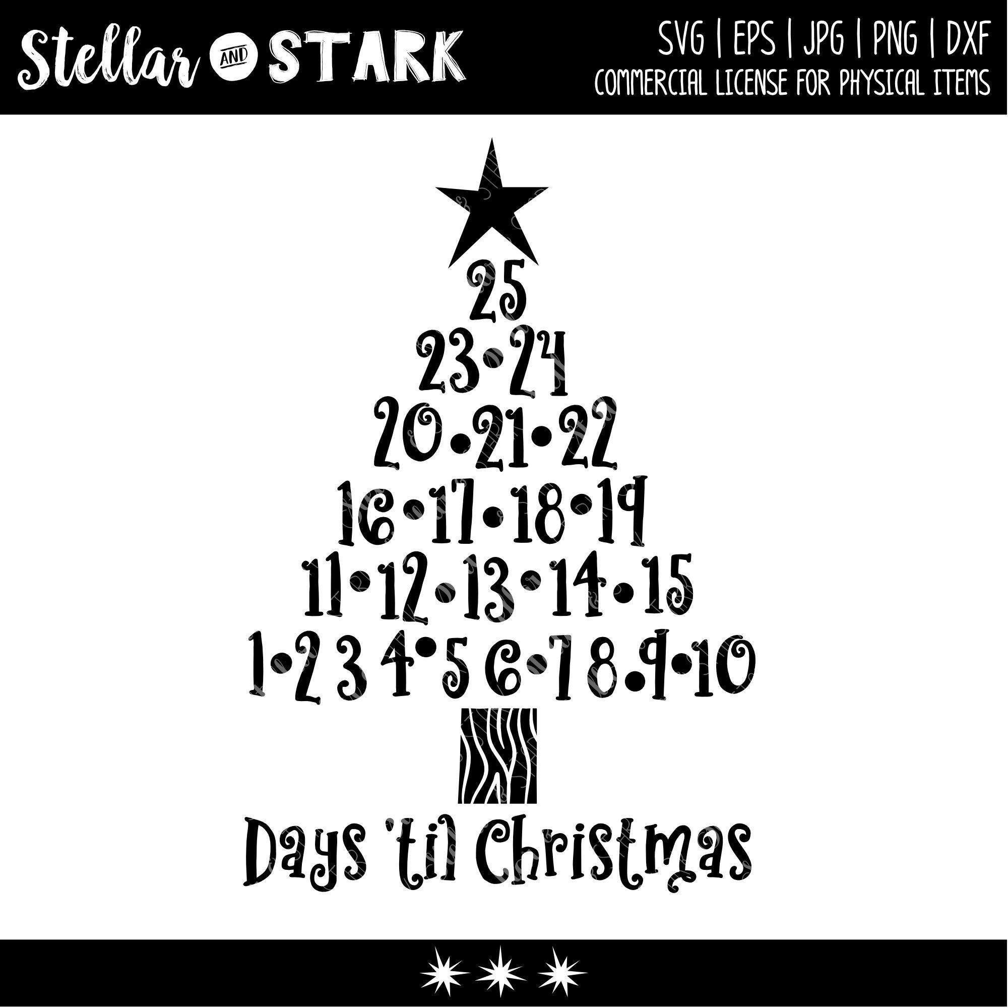 Christmas Tree Advent Calendar SVG Christmas Svg