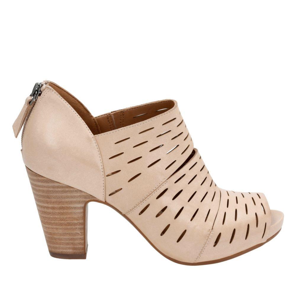 Okena Sass Nude Leather womens-heels. Women's HeelsClarksBootsI